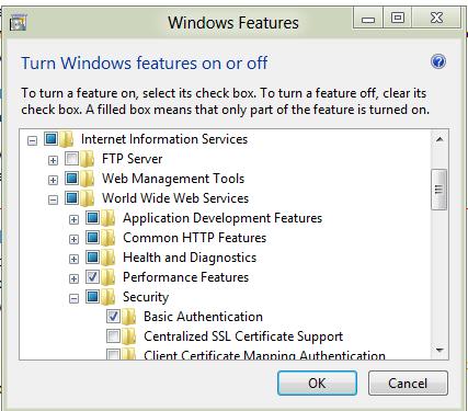 install iis management console windows server 2012